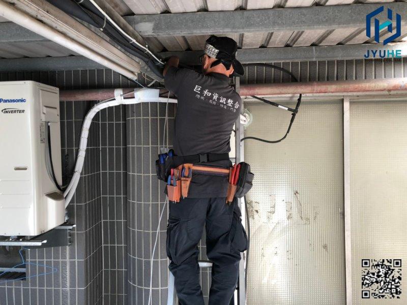 西屯台中工業區建華機電-探照燈+監視器鏡頭新增工程-01